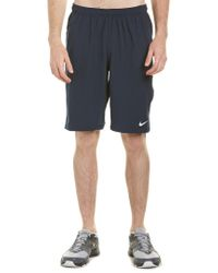 "Nike Blue N.e.t. 11"" Woven Tennis Shorts for men"