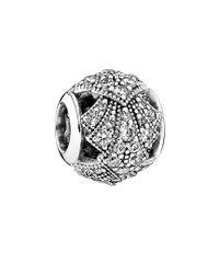 Pandora - Metallic Oriental Fan Silver Charm - Lyst