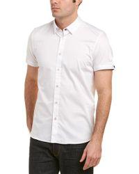 Ted Baker - White Satin Stretch Shirt for Men - Lyst
