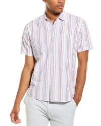 Joules Pink Pier Seersucker Woven Shirt for men