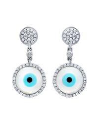 Diana M - Blue . Fine Jewelry 14k 0.30 Ct. Tw. Diamond Earrings - Lyst