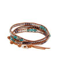 Chan Luu - Metallic Silver Gemstone Leather Bracelet - Lyst