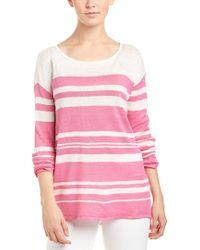 Tori Richard Pink Linen Sweater