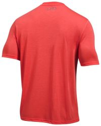 Under Armour Red Threadborne Siro V-neck T-shirt for men