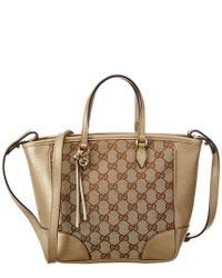 11a8b8faf19 Lyst - Gucci Brown Gg Supreme Canvas Bree in Brown