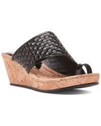 Donald J Pliner Black Gyer Wedge Sandal