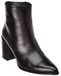 Stuart Weitzman Black Trendy Leather Bootie