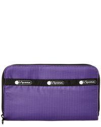 LeSportsac - Purple Taylor Zip Around Organizer Wallet - Lyst