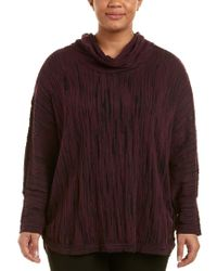 NIC+ZOE - Multicolor Plus Cowled Knit Top - Lyst