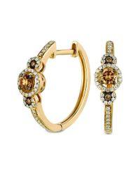 Le Vian Metallic ? Chocolatier? 14k Honey Gold? 0.42 Ct. Tw. Diamond Earrings