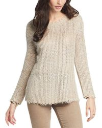NIC+ZOE Brown Sunrise Linen-blend Sweater