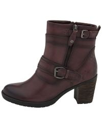Earth Brown Montana Mid Calf Leather Bootie