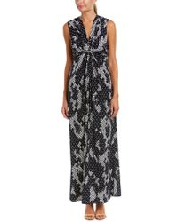 Eliza J Black Knot Maxi Dress