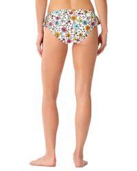 Anne Cole Multicolor Flounce Bikini Bottom