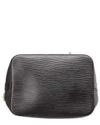 Louis Vuitton - Black Noir Epi Leather Noe Petite - Lyst