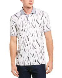 Greyson White Falling Feathers Polo Shirt for men