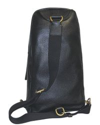 Dopp Black Buxton Soho Leather Sling Backpack