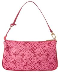 Louis Vuitton Limited Edition Pink Cosmic Blossom Patent Leather Pochette Accessoires