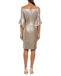 Tahari Metallic Tahari Asl Cocktail Dress
