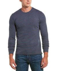 Vince Blue Knit Long Sleeve Top for men