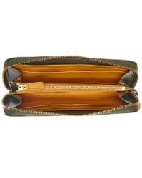 Ferragamo - Green Gancini Leather Zip Around Wallet - Lyst