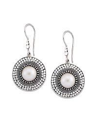 Samuel B. Metallic Silver 10mm Pearl Earrings
