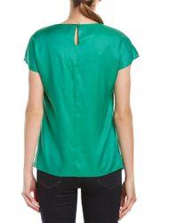 Boden Green Silk-blend Top