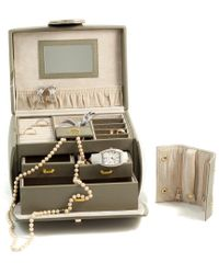 Bey-berk Multicolor Leather 3-level Jewelry Box With 3 Drawers