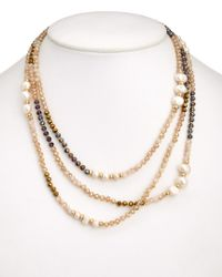 Carolee - Multicolor Freshwater Pearl & Glass Stone 60in Necklace - Lyst