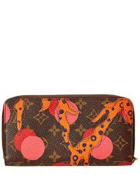 Louis Vuitton Multicolor Limited Edition Pink Ramages Monogram Canvas Zippy Long Wallet