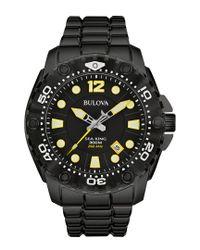 Bulova Black Men's Stainless Steel Watch for men