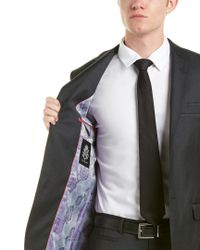 English Laundry Multicolor Wool Suit With Flat Front Pant for men