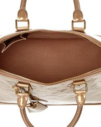 Louis Vuitton Natural Beige Monogram Vernis Leather Alma Pm
