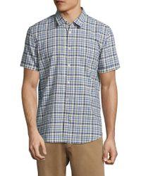 John Varvatos Blue . Plaid Sportshirt for men