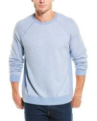 Vince Blue Birdseye Wool & Cashmere-blend Sweater for men