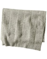 Quinn Multicolor Cashmere Cable Stitch Donegal Scarf