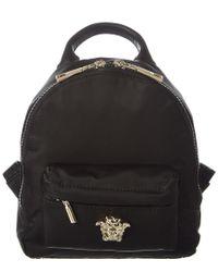 Versace Black Palazzo Head Backpack for men