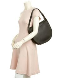 Céline Black Céline Round Flap Leather Shoulder Bag