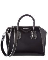 Givenchy Black Small Antigona Leather Satchel
