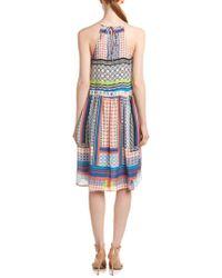 Parker - Orange Tamar Silk Midi Dress - Lyst