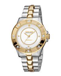 Roberto Cavalli Metallic Women's Stainless Steel Diamond Watch