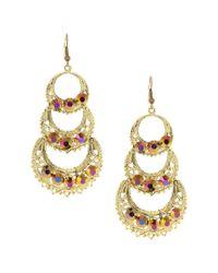 Sparkling Sage - Metallic 14k Plated Resin Drop Earrings - Lyst