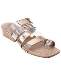 Donald J Pliner Doris Mirror Metallic Sandal