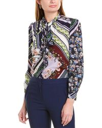 Tory Burch Multicolor Floral-print Pussy-bow Shirt