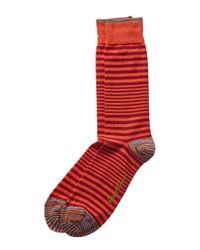 Robert Graham Orange Timber Socks for men