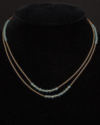 Argento Vivo - Black 18k Over Silver Apatite 36in Necklace - Lyst