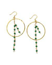 Charlene K Metallic 14k Over Silver Emerald Earrings