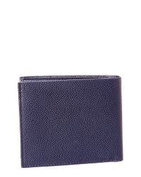 Ferragamo Blue Ten Forty One Embossed Leather Bifold Wallet for men