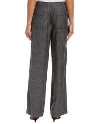 Trina Turk Black Arabica Linen-blend Pant