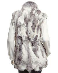 Adrienne Landau Gray Textured Goma Vest